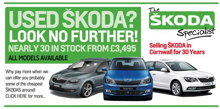 Great deals on used Skoda's from Falmouth Garages